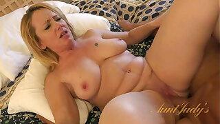 AuntJudys - Busty 46yr-old Brandie Sucks Horseshit & Gets Fucked