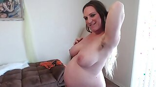 Hairy Ginger Pussy Squats Squirts Sucks Pussy Juices 36 Weeks Pregnant Different Angles of Broad in the beam Belly - BunnieAndTheDude