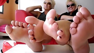 Horny amateur Foot Fetish porn scene