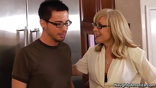 Nina catches her son's friend