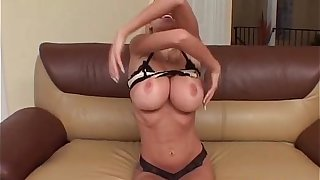 Blonde MILF with massive water melons