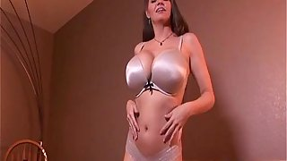 Big boobs milf strips and rides a big dick