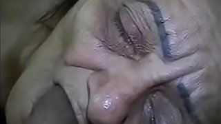cumming in granny's mouth