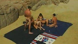 Vintage 90s Pornstar Stacy Valentine Bikini Beach