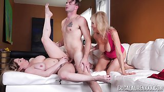 Young schoolboy fucks the girlfriend and their way full-grown mom
