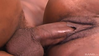 Ebony mature tries someone's skin young step son for a scarcely any abandoned rounds