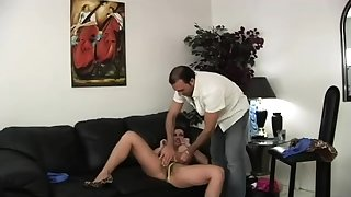 Horny bigtit brunette MILF Pornstar Diamond Foxxx fucks dig up