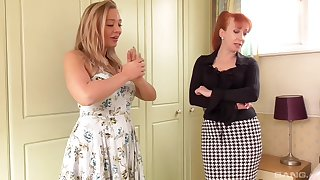 Lesbian pussy put to rout on the bed is a fantasy of hot Beth Bennett