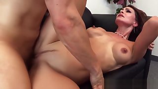 Spruce MILF squirts while riding hard cock