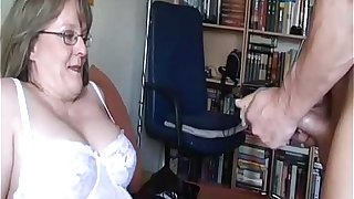Bungling Milf with big tits sucks coupled with fucks with cum