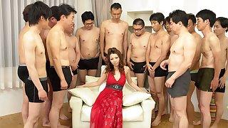 Nagisa Kazami in Nagisa Kazami is fucked apart from so many cocks in a gangbang - AvidolZ