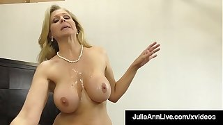 Dick Sucking Cougar Julia Ann Sucks & Strokes Lucky Cock!