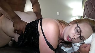 Thick Colourless Wife Takes Massive Load From BBC