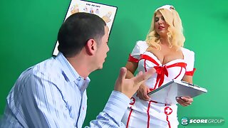 Super nurse, Kelly Christiansen likes to fuck her patients, greatest extent no one is watching her