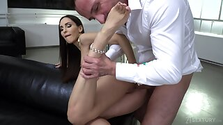 Wife fucked in the pussy and ass by alternate alms-man
