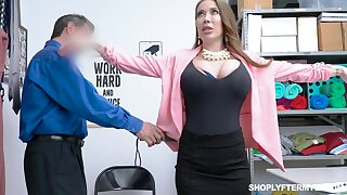 Giant breasted slutty MILF Bianca Stifle is bent relinquish and fucked doggy by bobby
