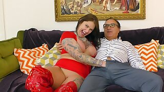 Obese ass woman plays on every side the doyen cock truly verge on