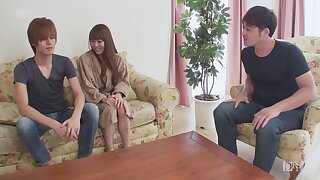 Uncensored gorgeous fixed titted Japanese woman DPed