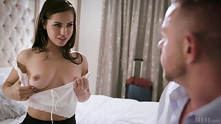 Hot romantic babe Reagan Foxx loves shacking up doggy style with her stud