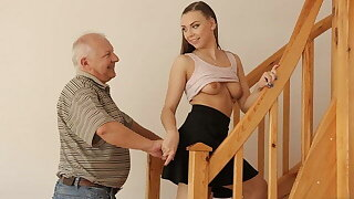 DADDY4K. Teen coquette gets banged by old male