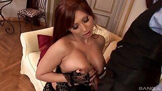 Busty matured pornstar Selina in stockings having wild sex