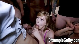 Her 1st As a last resort Creampie Gangbang