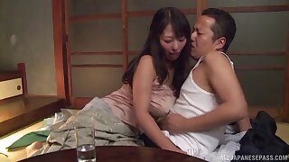 Passionate lovemaking in the evening with busty babe Ryoko Murakami