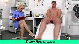 Of age nurse MILF Maya hot stockings