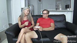 Video Gamer Son Fucks StepMom-Leilani Lei