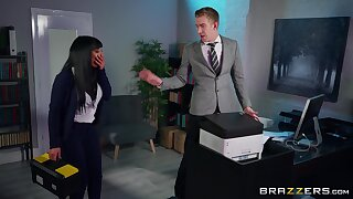 Office MILF is keen nearby disobey some proper dong while going forward