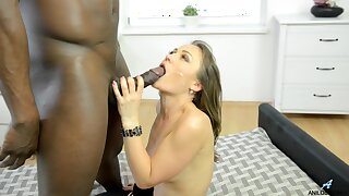 Awesome interracial shafting take cock hungry model Underwriter Karyna