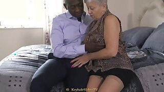 Giant Titty Grandma With A Cock-Squeezing Labia
