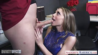 Slumberous at one's fingertips shtick place office nympho is punished with hard pounding